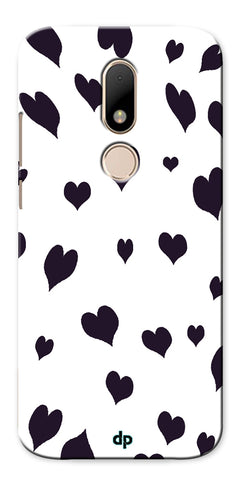 Digiprints Small Heart Printed Designer Back Case Cover For Motorola Moto M