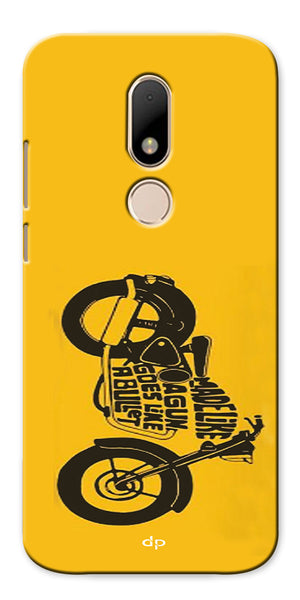 Digiprints Bullet Lover Printed Back Case Cover For Motorola Moto M