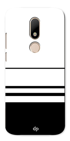 Digiprints Black White Beautiful Pattern Printed Back Case Cover For Motorola Moto M