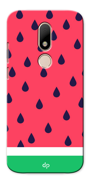 Digiprints Tropical Watermelon Designer Printed Back Case Cover For Motorola Moto M