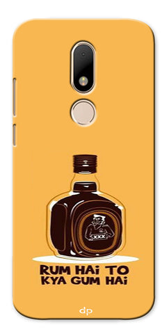 Digiprints Rum Hai To Kya Gum Hai Printed Back Case Cover For Motorola Moto M