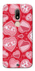 Digiprints Beautiful Pink Heart Design Printed Back Case Cover For Motorola Moto M