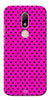 Digiprints Black Dotted Design Pink Printed Back Case Cover For Motorola Moto M