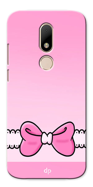 Digiprints Bing Bow Printed Back Case Cover For Motorola Moto M