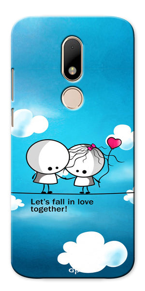 Digiprints Let'S Fall In Love Together Back Case Cover For Motorola Moto M