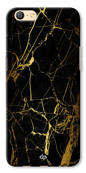 Digiprints Black Marble Design 1 Printed Designer Back Case Cover For Oppo A57