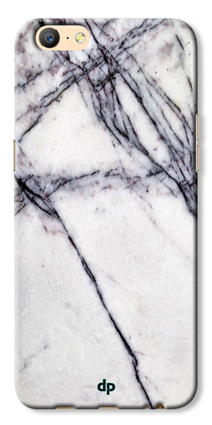 Digiprints White Marble Design 5 Printed Designer Back Case Cover For Oppo A57
