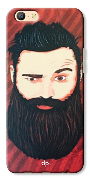 Digiprints Beard Man Printed Design Back Case Cover For Oppo A57