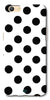 Digiprints Black Polka Dots Printed Back Case Cover For Oppo A57