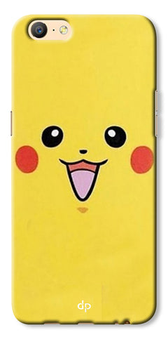 Digiprints Pikachu Pokemon Back Case Cover For Oppo A57