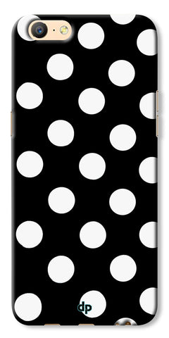 Digiprints White Polka Dots Printed Back Case Cover For Oppo A57