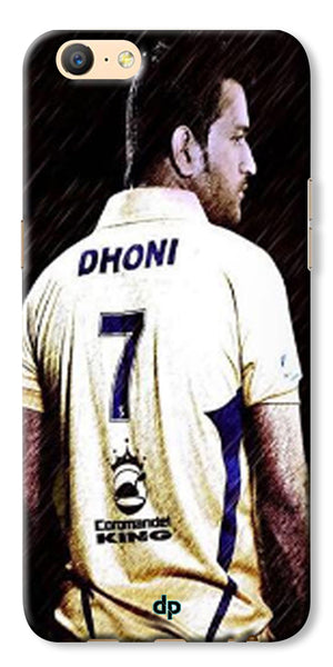 Digiprints Ms Dhoni Art Printed Back Case Cover For Oppo A57