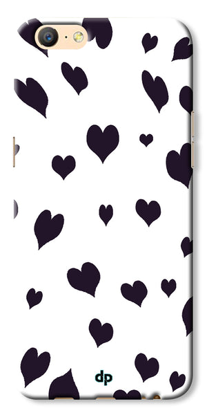 Digiprints Small Heart Printed Designer Back Case Cover For Oppo A57