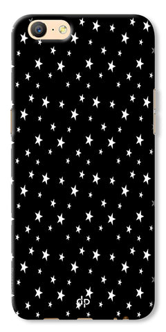Digiprints Stars Pattern Printed Back Case Cover For Oppo A57