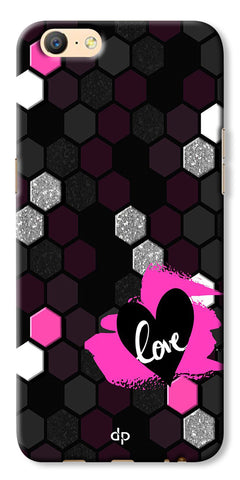 Digiprints Pretty Love Back Case Cover For Oppo A57
