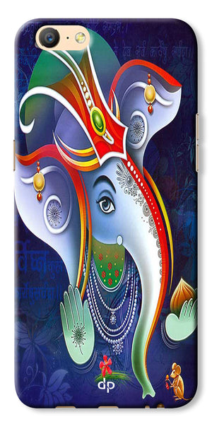 Digiprints Lord Ganesha Back Case For Oppo A57