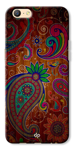 Digiprints Ethnic Wooden Art Back Case For Oppo A57