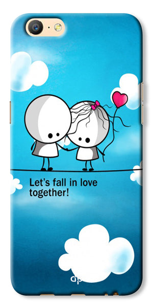 Digiprints Let'S Fall In Love Together Back Case Cover For Oppo A57