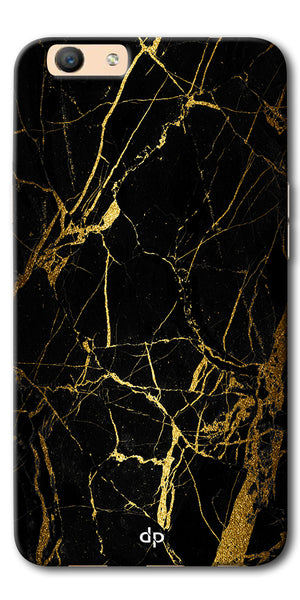 Digiprints Black Marble Design 1 Printed Designer Back Case Cover For Oppo F1s