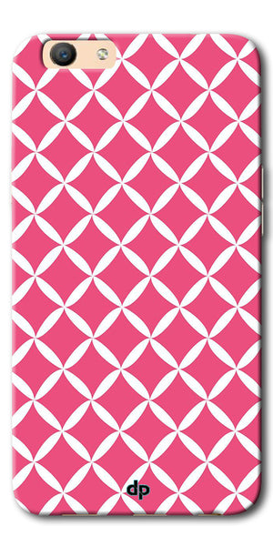 Digiprints Pink Pattern Printed Back Case Cover For Oppo F1s