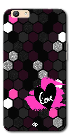 Digiprints Pretty Love Back Case Cover For Oppo F1s
