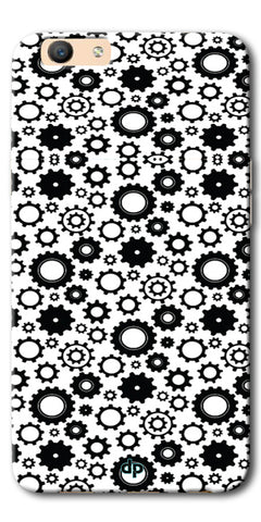 Digiprints Brain To Focus Compilation Patterns Back Case Cover For Oppo F1s