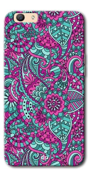 Digiprints Mandala Púrpura  Pattern Back Case Cover For Oppo F1s