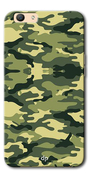 Digiprints Army Pattern Back Case Cover For Oppo F1s