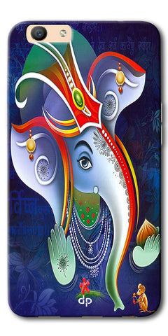 Digiprints Lord Ganesha Back Case For Oppo F1s