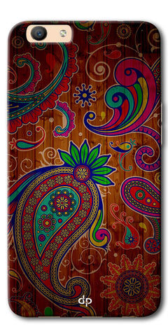 Digiprints Ethnic Wooden Art Back Case For Oppo F1s