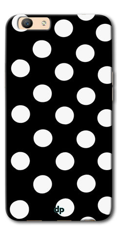 DigiprintsWhite Polka Dots Printed Back Case Cover For Oppo F3