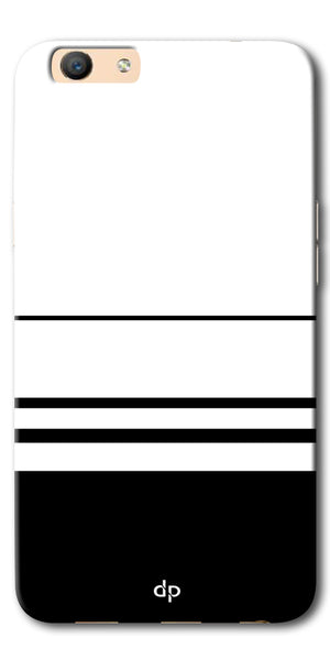 DigiprintsBlack White Beautiful Pattern Printed Back Case Cover For Oppo F3