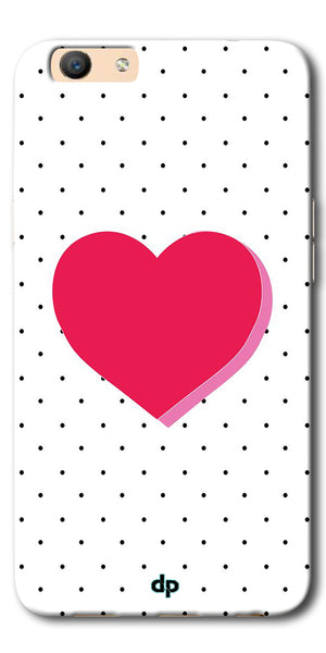 DigiprintsPink Heart Printed Back Case Cover For Oppo F3