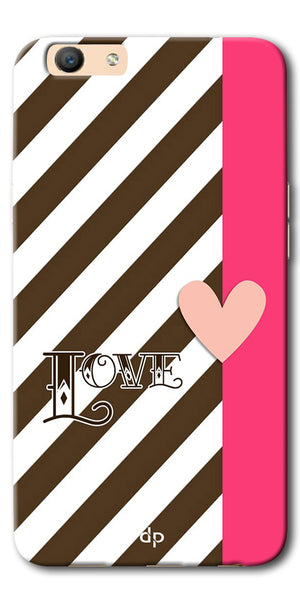 DigiprintsLove Heart Printed Back Case Cover For Oppo F3