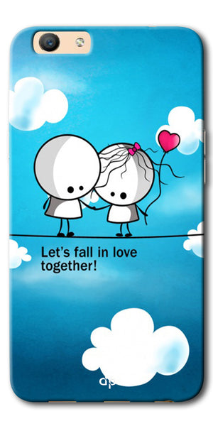 DigiprintsLet'S Fall In Love Together Back Case Cover For Oppo F3