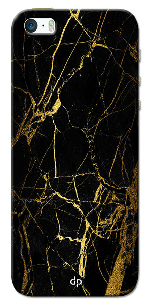 Digiprints Black Marble Design 1 Printed Designer Back Case Cover For Apple iPhone 5