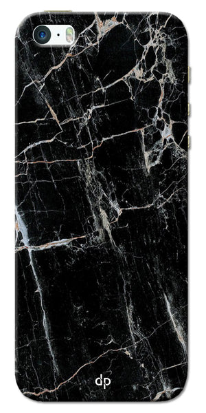 Digiprints Black Marble Design 2 Printed Designer Back Case Cover For Apple iPhone 5S