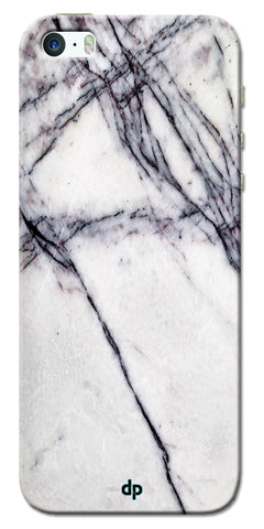 Digiprints White Marble Design 5 Printed Designer Back Case Cover For Apple iPhone 5