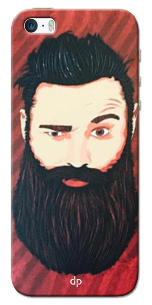 Digiprints Beard Man Printed Design Back Case Cover For Apple iPhone 5S