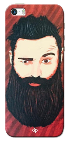 Digiprints Beard Man Printed Design Back Case Cover For Apple iPhone 5