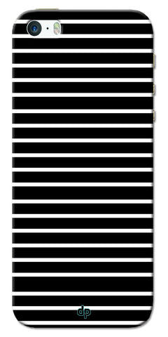 Digiprints White Horizontal Strips Designer Printed Back Case Cover For Apple iPhone 5