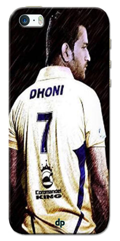 Digiprints Ms Dhoni Art Printed Back Case Cover For Apple iPhone 5