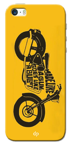 Digiprints Bullet Lover Printed Back Case Cover For Apple iPhone 5