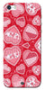 Digiprints Beautiful Pink Heart Design Printed Back Case Cover For Apple iPhone 5