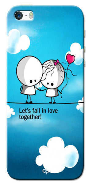 Digiprints Let'S Fall In Love Together Back Case Cover For Apple iPhone 5S