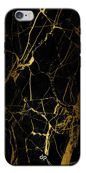 Digiprints Black Marble Design 1 Printed Designer Back Case Cover For Apple iPhone 6