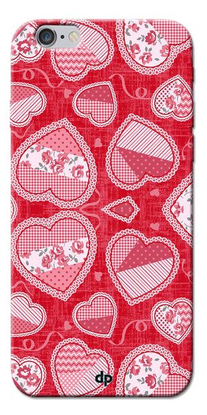 Digiprints Beautiful Pink Heart Design Printed Back Case Cover For Apple iPhone 6