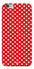 Digiprints Small Hearts On Red Design Printed Back Case Cover For Apple iPhone 6