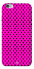 Digiprints Black Dotted Design Pink Printed Back Case Cover For Apple iPhone 6