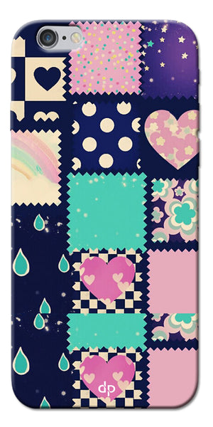 Digiprints Love Mix Pattern Printed Back Cover For Apple iPhone 6